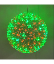 Christmas Blossom Ball LED Light - Red & Green