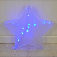 Christmas Blue Star Light Decoration 50cm