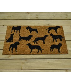 Dog Montage Design Coir Doormat by Gardman