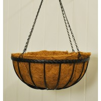 Metal Saxon Hanging Basket (40cm) by Smart Garden