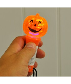 Halloween Hand Held Pumpkin Spinning Torch Light by Premier