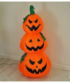 Inflatable Pre-Lit Three Pumpkin Halloween Decoration (Mains) by Premier