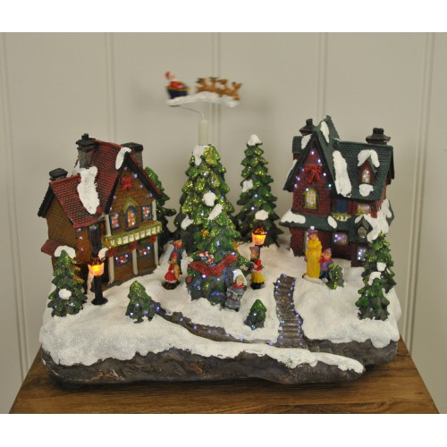 Christmas Scene Ornament Decoration with Snowman /& Music by Kingfisher