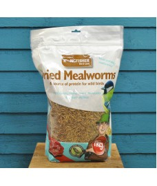1kg Bag Dried Mealworms Birdfood by Kingfisher