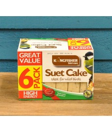 Pack of 6 Suet Cake Bird Food Birdfood by Kingfisher