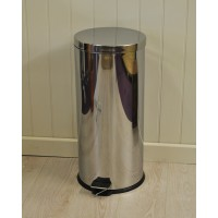 30 Litre Kitchen Stainless Steel Pedal Bin by Kingfisher