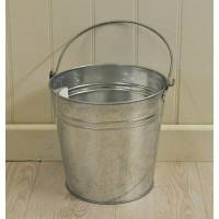 Galvanised Metal Bucket Bucket with Handle by Kingfisher