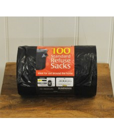 100 x Black Quality 70L Refuse Sacks Bin Liners by Kingfisher