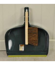Dustpan and Wooden Brush Set by Gardman