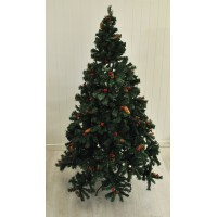 7ft (210cm) Premium Cone and Berry Christmas Xmas Tree by Kingfisher
