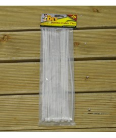 30 Pack Jumbo 34cm Cable Ties by Kingfisher