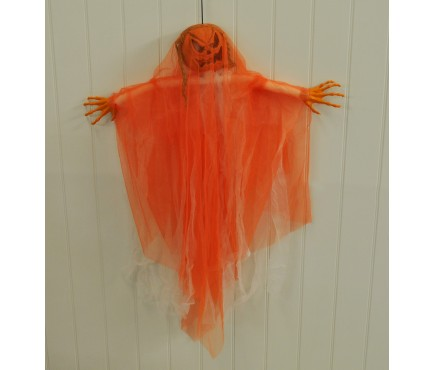 Hanging Pumpkin Ghost Decoration by Premier