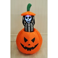 Inflatable Pop Up Skeleton With Lights Halloween Decoration by Premier