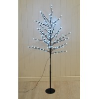 150cm White Cherry Blossom 150 LED Light Tree (Mains) by Snowtime