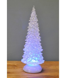 Colour Changing Glitter Christmas Tree (32cm) by Snowtime