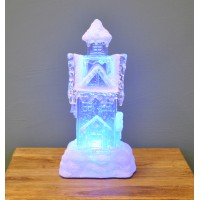 Illuminated Christmas Ice House Decoration (Battery Operated) by Snowtime