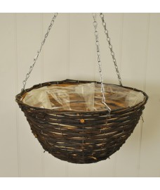 Rattan Hanging Basket (35cm) by Smart Garden