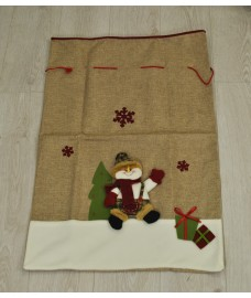 Hessian Christmas Sack - Santa or Snowman design