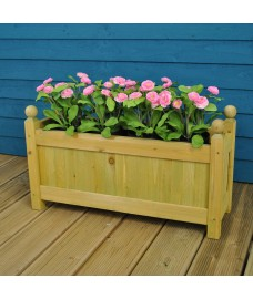 Set of 2 Wooden Garden Trough Planters by Gardman