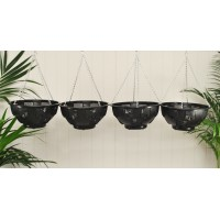 Set of 4 Easy Fill Hanging Baskets (36cm)
