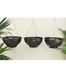 Set of 3 Easy Fill Hanging Baskets (36cm)