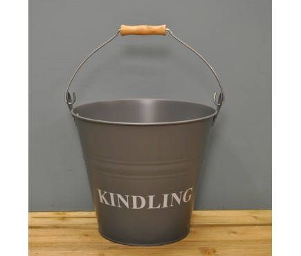 Kindling Wood Bucket - Charcoal by Garden Trading