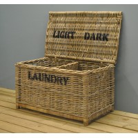 Dark and Light Laundry Chest by Garden Trading