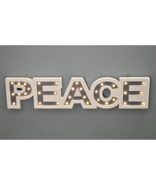 Peace Wooden LED Light Up Sign by Westwoods