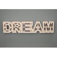 Dream Wooden LED Light Up Sign by Westwoods