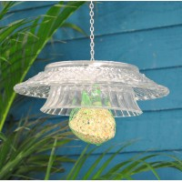 Hobnail Clear Glass Fat Ball Bird Feeder