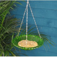 Hobnail Glass Round Seed and Nut Bird Feeder by Fallen Fruits