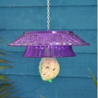 Hobnail Coloured Glass Round Hanging Fat Ball Feeder by Fallen Fruits