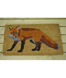 Fox Design Printed Coir Doormat by Fallen Fruits