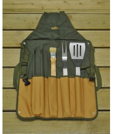 Barbecue Apron with 4 BBQ Tools by Fallen Fruits