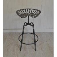Tractor Seat Design Garden Stool in Grey by Fallen Fruits
