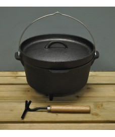 Cast Iron Dutch Oven / Hanging Cooking Pot by Fallen Fruits