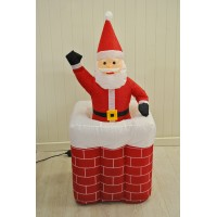 Kingfisher Inflatable Father Christmas in Chimney