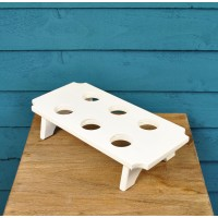 Wooden Egg Rack in White by Fallen Fruits