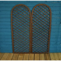 Set of 2 Willow Trellis With Curved Top (180cm x 60cm)