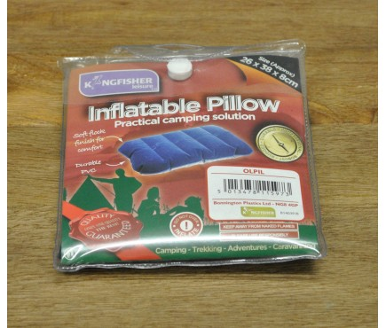 Single Blow Up Camping Air Pillow by Kingfisher