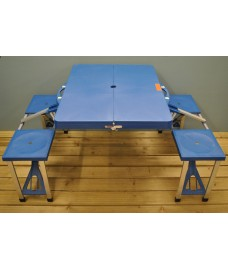 Lightweight Folding Picnic Table & Seats by Kingfisher