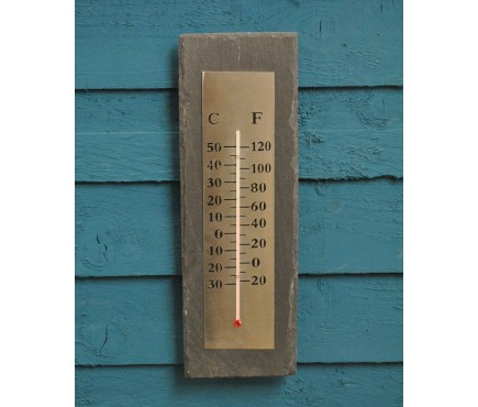 Rectangular Slate Thermometer by Fallen Fruits