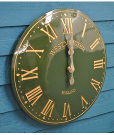 Westminster Classic Wall Clock In Green (38cm) by Smart Garden