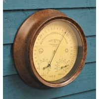 Antique Rust Effect Barometer & Thermometer by Smart Garden