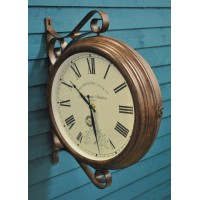 Greenwich Station Clock & Thermometer  Double Sided by Smart Garden