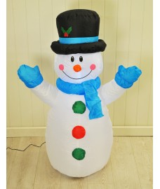 Inflatable Snowman (120cm) with LEDs by Kingfisher