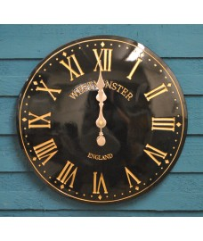 Westminster Classic Wall Clock In Black by Smart Garden