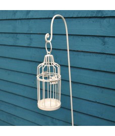 Rustic Bird Cage Tealight Candle Holder with Border Stake by Gardman