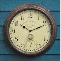 Bickerton Wall Clock & Thermometer by Smart Garden