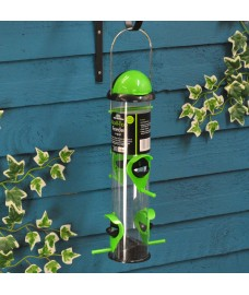 Hanging Roll Top 4-port Seed Bird Feeder by Tom Chambers